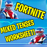FORTNITE - MIXED VERB TENSES WORKSHEET / Correct the mistakes!