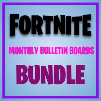 FORTNITE MONTHLY BULLETIN BOARD BUNDLE