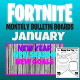 FORTNITE MONTHLY BULLETIN BOARD January with New Year's Activity