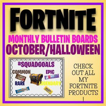 FORTNITE MONTHLY BULLETIN BOARD OCTOBER HALLOWEEN SQUAD GOALS