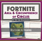 FORTNITE Math Game: Area and Circumference of Circles activity.