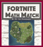 FORTNITE Math Match! Transformations & Integer Operations Math Board Game.