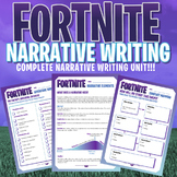 FORTNITE - Narrative Writing Unit - 20 Page Workbook