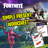 FORTNITE - SIMPLE PRESENT WORKSHEET