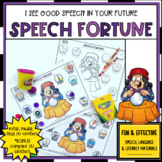 FORTUNE TELLER speech worksheets *bonus COMPLEX /s/ cluste