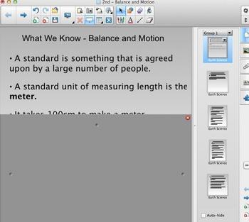FOSS 2nd Grade - Balance and Motion Content Chart - Smartboard