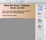 FOSS - 2nd Grade - Pebbles, Sand and Silt - Content Chart - SmartBoard