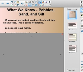 FOSS - 2nd Grade - Pebbles, Sand and Silt - Content Chart - SmartBoard