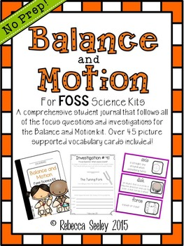 FOSS- Balance and Motion:A Kids Friendly Science Journal