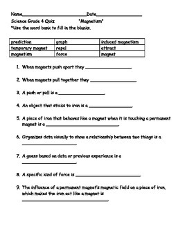 FOSS Electricity and Magnetism Investigation 1 Study Packet