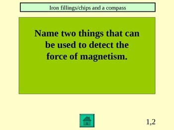 FOSS Electricity and Magnetism Jeopardy: Investigation 1, Experiments 1-4