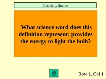 FOSS Electricity and Magnetism Jeopardy: Investigation 2, Experiments 1-4
