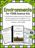 FOSS Environments- A Kid Friendly Science Journal