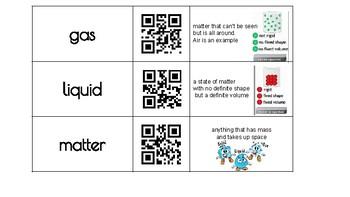 FOSS Kit: PS Measuring Matter QR Code Vocabulary Match