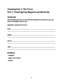 Electricity And Magnetism Foss Worksheets & Teaching Resources | TpT