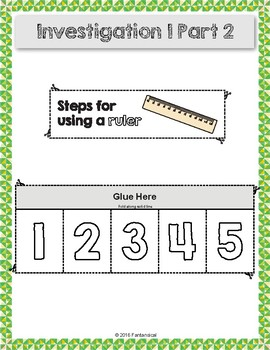 FOSS Measurement Investigation 1 Vocabulary and Activity Sheets