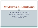 FOSS: Mixtures & Solutions Investigation 2 Part 2