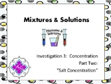 FOSS: Mixtures & Solutions Investigation 3 Part 2