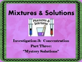 FOSS: Mixtures & Solutions Investigation 3 Part 3
