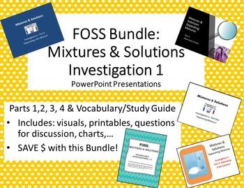 Editable FOSS:  Mixtures & Solutions Investigation 1 Bundle