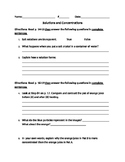 FOSS Mixtures and Solutions Reading Notes- Solutions and Concentrations