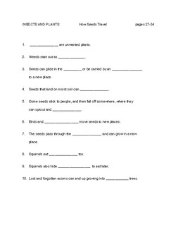 FOSS SCIENCE  Grade 2    INSECTS AND PLANTS     Guided Reading p. 27-34