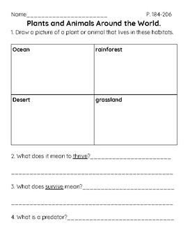 FOSS Science Grade 1 - Plants and Animals Unit