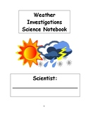 FOSS Science Kit Weather Unit Journal