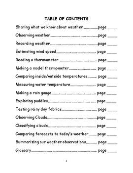 FOSS Science Kit Weather Unit Journal