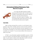 FOSS Science Life Structures Crayfish / SBAC Writing Performance Task Practice