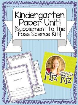 Kindergarten Science Paper Unit- Printable bundle to suppl