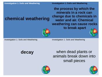 FOSS Soils, Rocks, and Landforms Vocabulary/Glossary Matching Cards