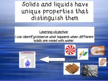 FOSS Solids and Liquids:  An Editable Interactive Resource