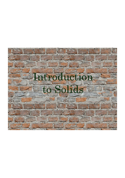 FOSS Solids and Liquids Investigations 1 and 2 Lesson Presentation