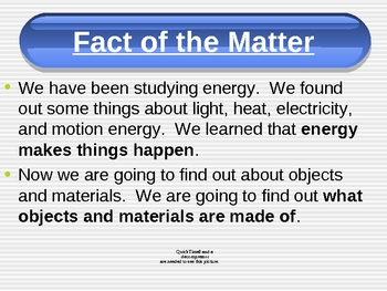 FOSS Third grade Science - Matter & Energy - Investigation 3