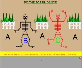 FOSSILS~ Saint Saens~ Halloween, Smartboard,ti tika, endings, dance, form