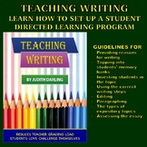 Teaching Writing - Learn How To Set Up A Student Directed Learning Program