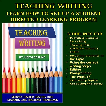Teaching Writing - Learn How To Set Up A Student Directed