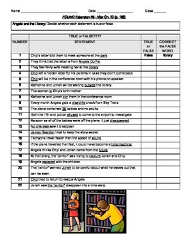FOUND (MARGARET PETERSON HADDIX) NOVEL EXTENSION ACTIVITY WORKSHEETS