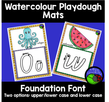 FOUNDATION FONT watercolour alphabet playdough mats