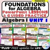 FOUNDATIONS FOR ALGEBRA Mini-Lessons & Guided Practice -Algebra 1