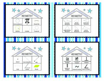 FOUNDATIONS IN MATH! Task Cards Geometry Geometric Terms Word Work Vocabulary