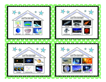 FOUNDATIONS IN SCIENCE! Task Cards Earth Science ASTRONOMY Terms Vocabulary