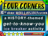 """""""FOUR CORNERS"""" Get-to-know-you game - ice breaker for 10th grade history class"""