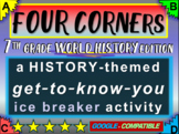 """""""FOUR CORNERS"""" Get-to-know-you game - ice breaker for 7th grade history class"""