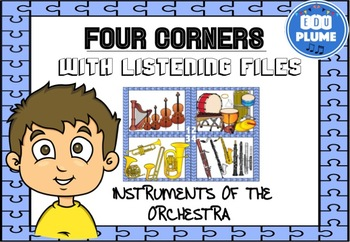 FOUR CORNERS - MUSIC INSTRUMENTS/FAMILIES WITH LISTENING EXAMPLES