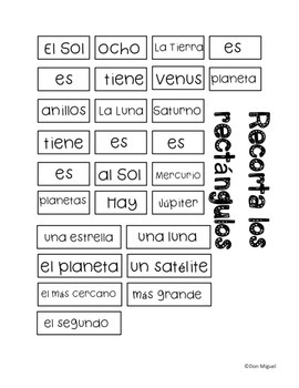 Lesson Plan & Activities BUNDLE: El Sistema Solar - Spanish Solar System