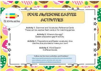 FOUR AWESOME EASTER ACTIVITIES!