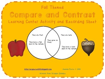 Compare and Contrast Center Activities - Fall (4 SETS)