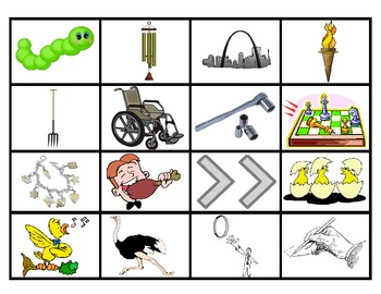 FOUR IN A ROW /CH/ PICTURE ARTICULATION GAME for Speech Therapy